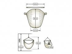 Leżak hamakowy Domingo L180, DOL18