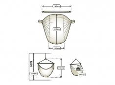 Leżak hamakowy Domingo L210, DOL21