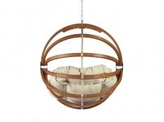 Fotel hamakowy drewniany, Gaya (L)-B - miodowy beż(2)