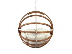 Fotel hamakowy drewniany, Gaya (L)-E - ecru(1)