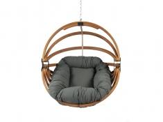 Fotel hamakowy drewniany, Gaya (L)-G - grafitowy(3)