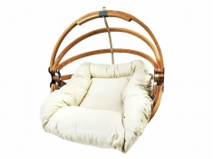 Fotel hamakowy drewniany, Gaya (M)-E - ecru(1)