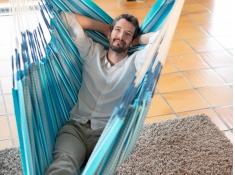 Fotel hamakowy Habana, HAL18 - niebieski(X3)