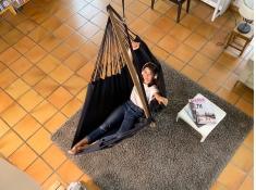Fotel hamakowy Habana, HAL18 - czarny(X9)