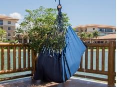 Fotel hamakowy, tranKil - niebiesko-granatowy(17230)