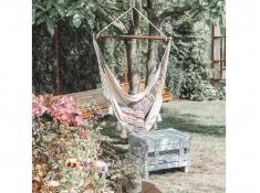 Fotel hamakowy, AHC-10 - ecru-szary(209g)