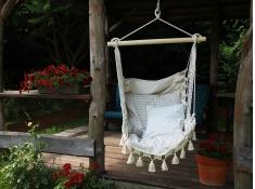 Fotel hamakowy boho
