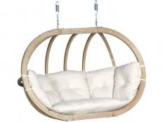 Fotel hamakowy drewniany, Swing Chair Double - ecru(1)