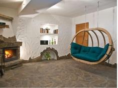 Fotel hamakowy drewniany, Swing Chair Double - zielony(3)