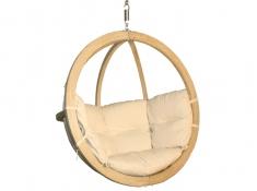 Fotel hamakowy drewniany, Swing Chair Single (2) - cappuccino(4)