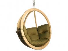 Fotel hamakowy drewniany, Swing Chair Single (2) - pistacjowy(6)
