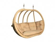 Hölzerner Hängesessel, Swing Chair Double (2) - cappuccino(4)
