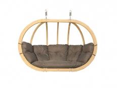 Hölzerner Hängesessel, Swing Chair Double (2) - grafitgrau(5)