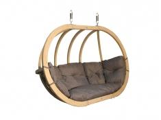 Fotel hamakowy drewniany, Swing Chair Double (2) - grafitowy(5)