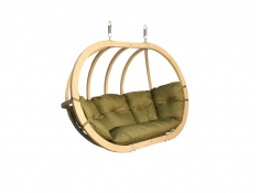 Fotel hamakowy drewniany, Swing Chair Double (2) - pistacjowy(6)