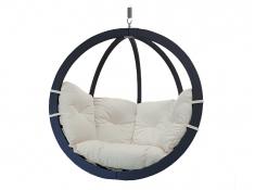 Fotel hamakowy drewniany, Swing Chair Single antracyt ecru - ecru(1)