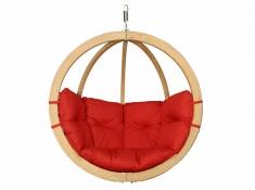 Fotel hamakowy drewniany, Swing Chair Single (3) - Czerwony(4)