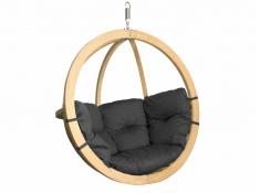 Fotel hamakowy drewniany, Swing Chair Single (3) - grafitowy(1)