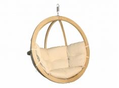 Fotel hamakowy drewniany, Swing Chair Single (3) - kremowy(2)