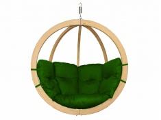 Fotel hamakowy drewniany, Swing Chair Single (3) - zielony(3)