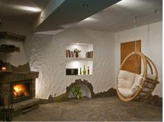 Fotel hamakowy drewniany, Swing Chair Single - ecru(1)