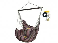Fotel hamakowy HC10 z zestawem montażowym, zhc10-255-koala/fix/ch1 - Aubergine(255)