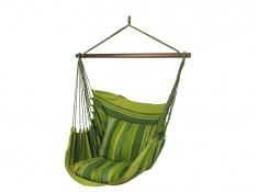 Fotel hamakowy HC10 z zestawem montażowym, zhc10-294-koala/fix/ch1 - zielony groszek(294)