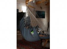 Fotel hamakowy z podstawką