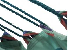 Fotel hamakowy szeroki z podstawką, HC-COMFY - Zielony(297)