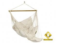 Fotel hamakowy szeroki z podstawką, HC-COMFY - ecru(209)