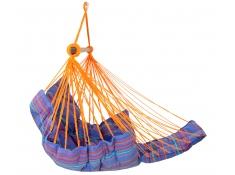 Fotel hamakowy szeroki z podstawką, HC-COMFY - Niebieski / turkusowy(278)
