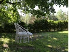 Fotel boho z poduszką, HC5 Round - naturalny(01)