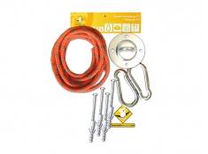 Leżak hamakowy HCXL z zestawem montażowym, zhcxl289-koala/fix/ch1 - pomarańczowy(289)