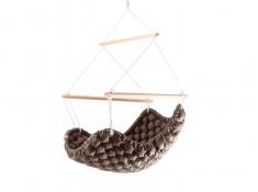 Fotel hamakowy, KLARA - 114 - czekoladowy(114)