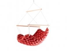 Fotel hamakowy, KLARA - 38 - Czerwony(38)