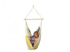 Fotel hamakowy, Relax - żółto-niebieski(Kolibri)