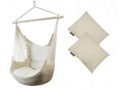 Fotel hamakowy z poduszkami, Viva + HP-209 - ecru(209)