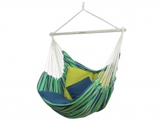 Fotel hamakowy z poduszkami i zestawem montażowym, Bench De Luxe+HP-113 + HP-303+F3 - zielony(149)