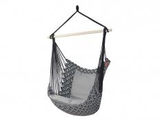 Fotel hamakowy z poduszkami i zestawem montażowym, Etno + HP-111 + koala/fix/ch1 - Szary(111)