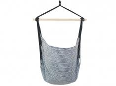 Fotel hamakowy z poduszkami i zestawem montażowym, Etno + HP-113 + koala/fix/ch2 - Granatowy(112)