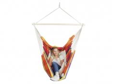 Fotel hamakowy z zestawem montażowym, Bench De Luxe + F3 - żólto-czerwony(0150)