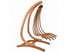 Drewniany leżak wiszący, Wave-B - miodowy beż(2)