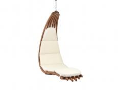 Drewniany leżak wiszący, Wave-E - ecru(1)