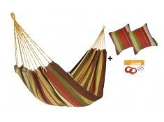 Zestaw hamakowy HW w kolorze 267 z poduszkami i zestawem montażowym