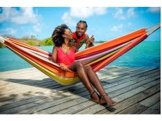 Hamak dwuosobowy, Barbados - żólto-czerwony(Acerola)
