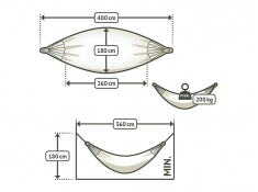 Hamak dwuosobowy Brisa H160, BRH16-W