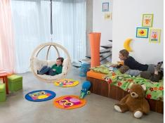 Fotel hamakowy dla dzieci, Kids Globo - ecru(Natura)