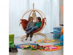 Fotel hamakowy dla dzieci, Kids Globo - Czerwony(Terracotta)