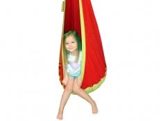 Fotel hamakowy dla dzieci + zestaw montażowy, CZ - Czerwony(2)