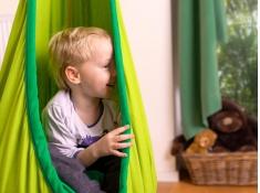 Fotel hamakowy dla dzieci JOKI z zestawem montażowym, JCD70 - zielony(44)